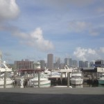 Downtown Miami, we just went through there with the boat!