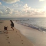 Beau and I doing our crazy run on the beach