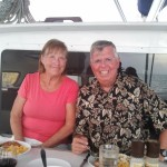 """Dinner aboard the """"Adreneline"""" with Jan and Gary"""