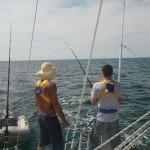 The guys fishing...nice hat dude.