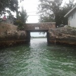 entrance to the the dinghy dock