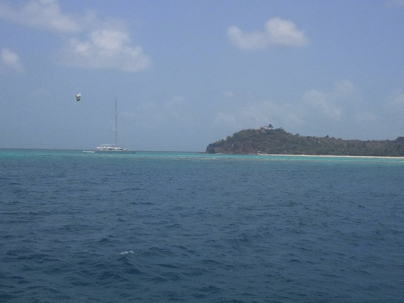 The-Necker-Belle-anchored-in-Necker-Island