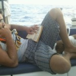 The hubby reading